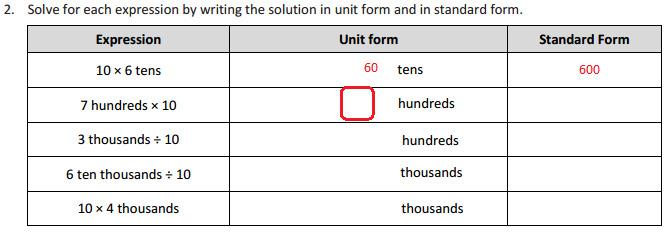 View Problems > 4.1 Lesson 2 Problem Set (4.NBT.1)